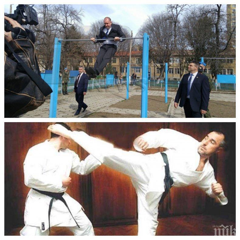 Гимнастикът Румен Радев епигон* на Бойко Борисов. Вместо да виси на лост, да беше се сопнал на Ердоган и Кирил