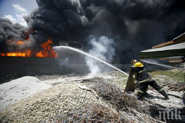 Изгоря цех за пелети в Сърница