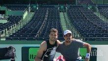 """Григор Димитров тренира с неудобен аржентинец преди """"Мастърс""""-а в Маями"""