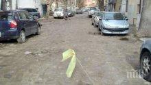 Така го правят в Пловдив: Бизнесдама ремонтира улицата пред офиса си (СНИМКИ)
