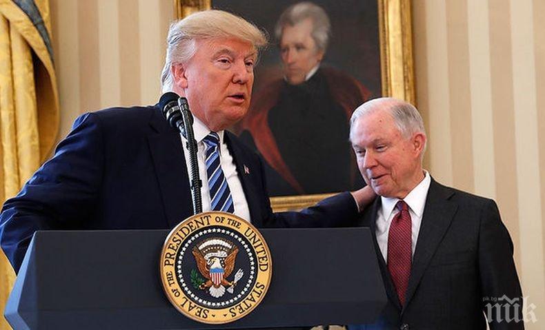 Доналд Тръмп вдигнал мерника и на генералния прокурор Джеф Сешънс