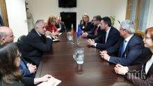 Премиерът Бойко Борисов се срещна с Лука Визентини