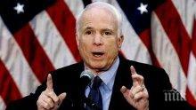 """Скандалният сенатор Джон Маккейн нарече победата на Путин """"измама"""""""