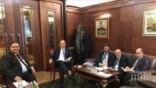 Цветан Цветанов проведе работна среща с председателя на Комисията ЛИБЕ в ЕП Клод Мораес