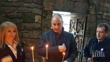 Цветанов запали свещ за празника на Велико Търново (СНИМКИ)