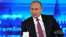 Путин благодари на привържениците си за победата на президентските избори
