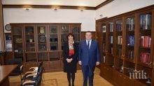 Цацаров обсъди с колежката си от Люксембург създаването на Европейска прокуратура