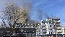 ИЗВЪНРЕДНО! Пожар и силно задимяване в Студентския град, има пострадал полицай (СНИМКИ)
