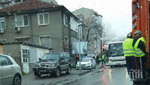 Кола помете жена на пешеходна пътека в Пловдив (СНИМКИ)