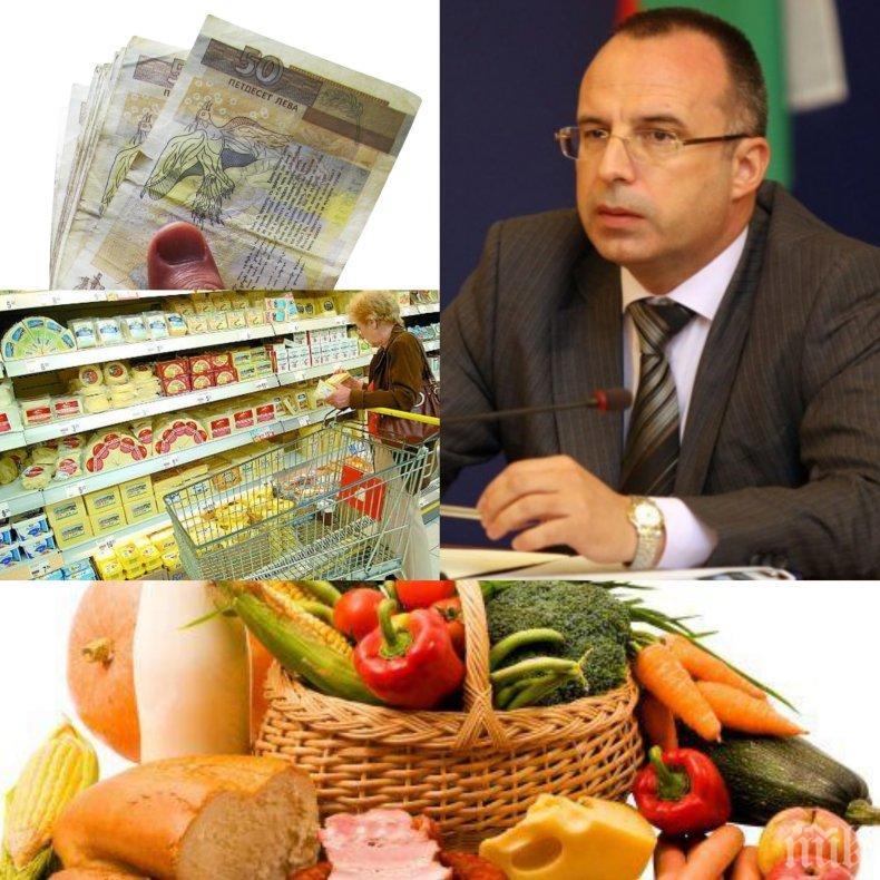 БОМБА ПРЕДИ ВЕЛИКДЕН! Жесток рекет в магазините! Министър призна - цените на храните са фрапиращо високи