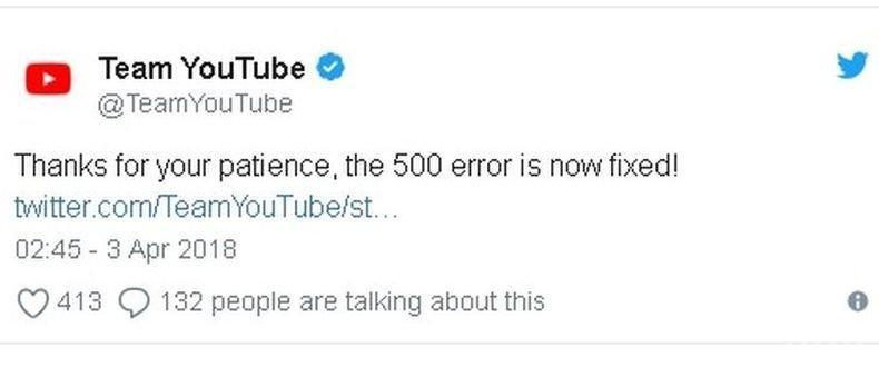 От YouTube обявиха за отстраняване на проблемите в работата на услугата