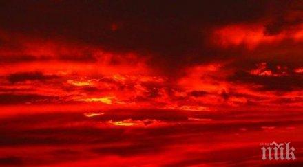 Апокалипсисът надвисна над Алжир! Хората ужасени от червеникаво сияние в небето - било знамение за пришълци от друг свят