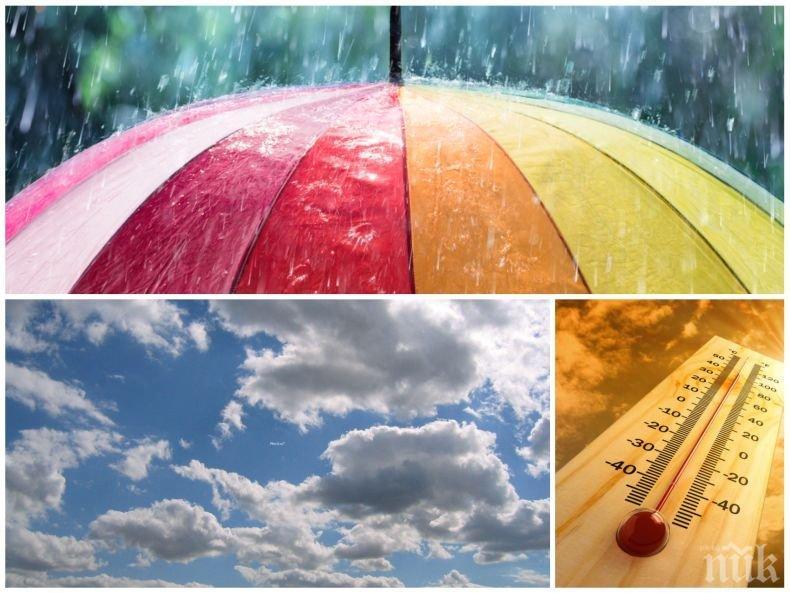 ПРОЛЕТНИ КОЛЕБАНИЯ: Дъжд и гръмотевици ще има днес, но температурите скачат до 25 градуса