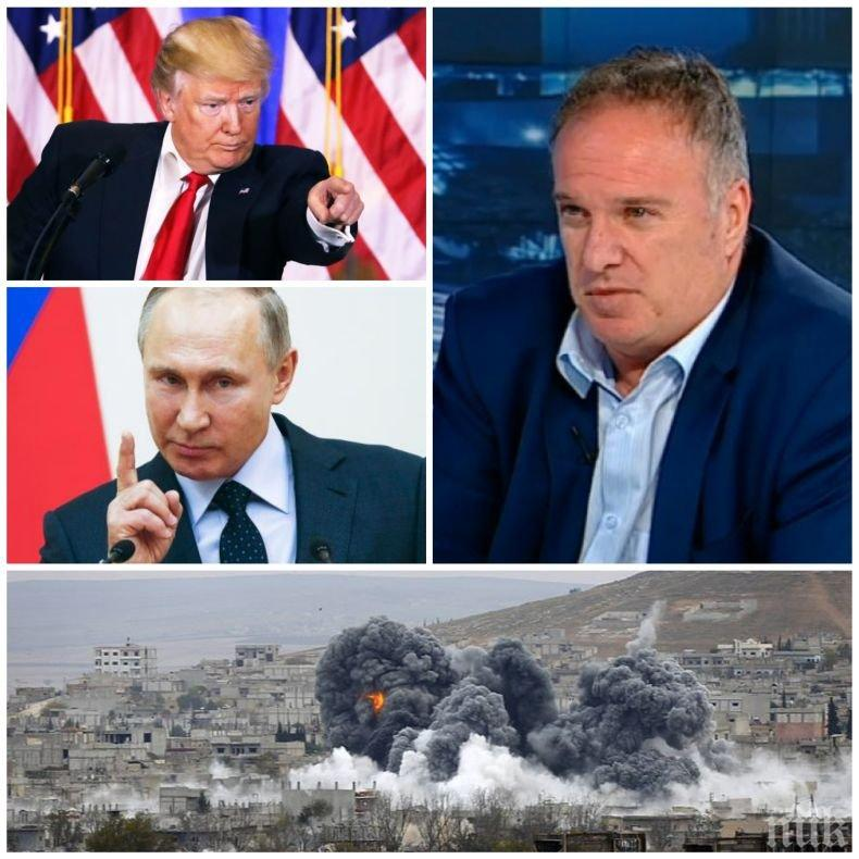 ЕКСКЛУЗИВНО В ПИК! Проф. Владимир Чуков с горещ коментар ще има ли война между САЩ и Русия в Сирия!