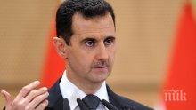 ПРОГОВОРИ АСАД:  Време е Западът да признае, че е загубил контрол над ситуацията в Сирия