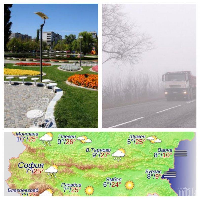 ПРОЛЕТНИ КАПРИЗИ! В София слънце, на морето студ и мъгла