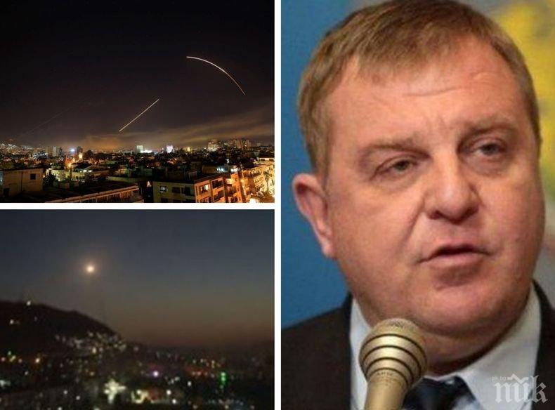 САМО В ПИК! Вицепремиерът Каракачанов с първо интервю за ударите в Сирия - има ли опасност за България и Балканите