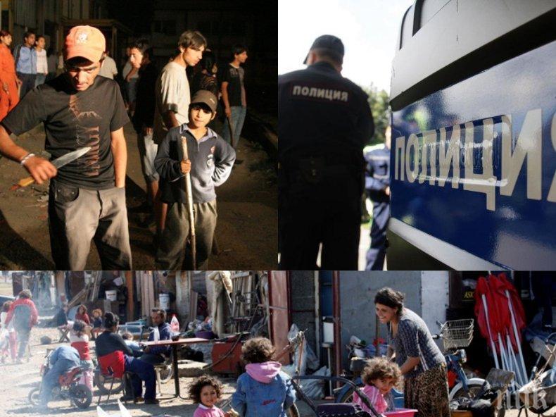 ЕКШЪН! В Пазарджик почерня от полиция, циганите на бунт, искат да линчуват педофил