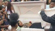 ЗЛОВЕЩО! Момиче отиде на бала си в ковчег