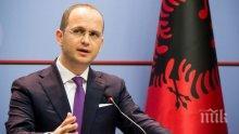 Албанският външен министър заяви, че препоръката от ЕК е велик ден за страната му