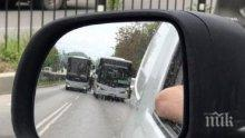 ИЗВЪНРЕДНО! Два автобуса се удариха в Пловдив (СНИМКА)
