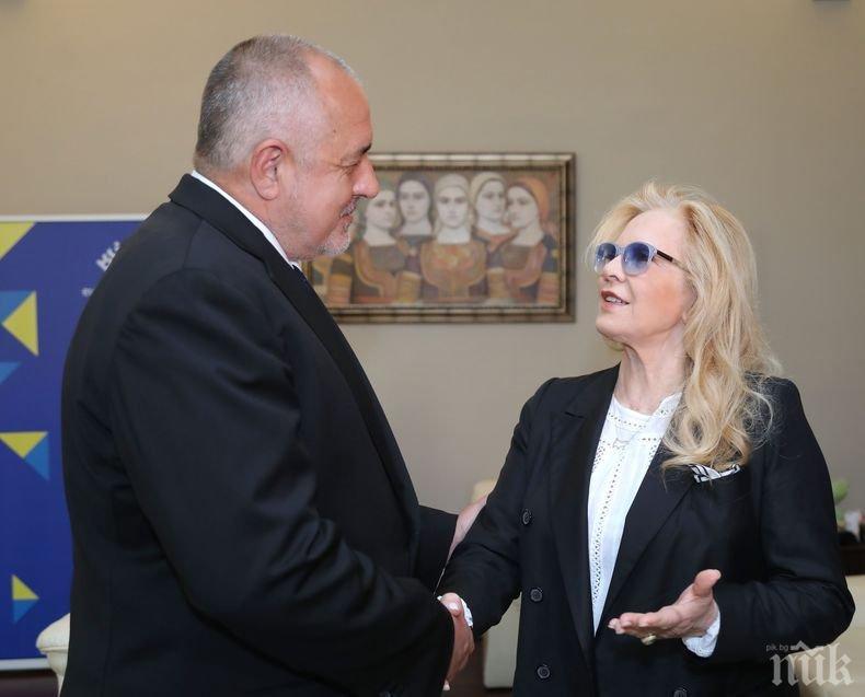 ПЪРВО В ПИК! Премиерът Борисов на среща със Силви Вартан (ВИДЕО/СНИМКИ)