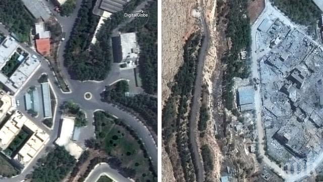 ИЗВЪНРЕДНО В ПИК! Вижте какво остана след въздушните удари по Научно-изследователския институт в Сирия (ВИДЕО КАДРИ ОТ ВЪЗДУХА)
