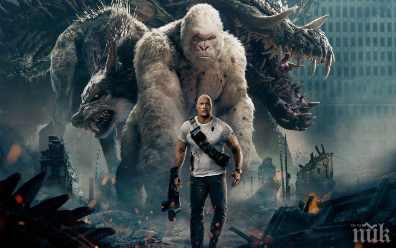 Новият филм с Дуейн Джонсън изкара 150 милиона долара (СНИМКИ + ВИДЕО)