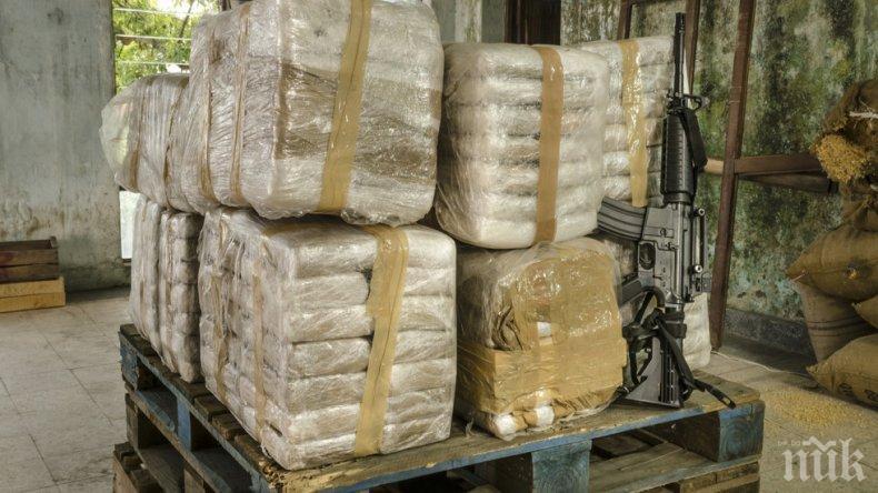 Удар! Властите в Бразилия иззеха почти половин тон кокаин