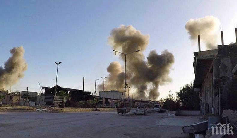 10 ракети са били прихванати при въздушната атака край Хомс