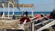 Разрушиха голям ресторант в Слънчев бряг