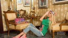 ГЛЕЗЛА! Светлана Василева си пие кафето с Версаче (СНИМКА)