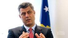 Хашим Тачи: Признаването на Косово от страна на Русия е в интерес на Сърбия