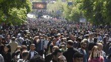 Лидерите на протестите в Армения се срещнаха с руски дипломати