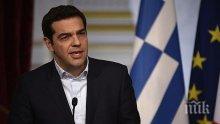 Ципрас скочи на пресата, опитали да попречат на речта му в Лесбос
