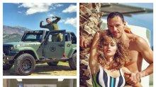 ВТОРА ПРОФЕСИЯ! Даниел Петканов стана мияч на коли, докато жена му Александра чупи стойки в Лисабон (УНИКАЛНИ СНИМКИ)