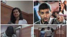 ИЗВЪНРЕДНО В ПИК TV! Полицай пази от журналисти скандалната съдийка Хазърбасанова, която брани хулителя на Левски – вижте как бяга от камерата ни
