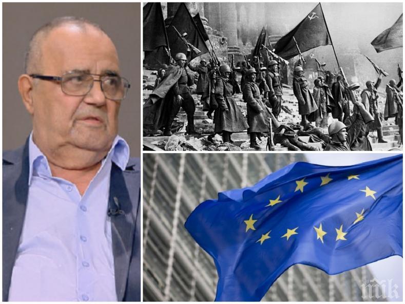 ЕКСКЛУЗИВНО В ПИК! Проф. Божидар Димитров разби проевропейците: Без Деня на победата нямаше да има Ден на Европа