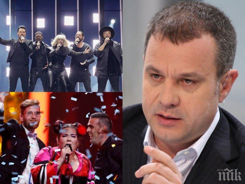 """ЕКСКЛУЗИВНО В ПИК! Емил Кошлуков с горещ коментар за """"Евровизия"""": Песента на Израел е пълна свинщина!"""