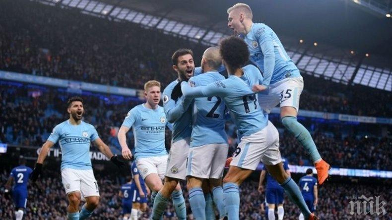 Манчестър Сити счупи три рекорда във Висшата лига на Англия