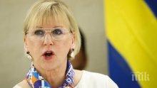Шведският външен министър заяви, че ЕС няма единна позиция за израелско-палестинския конфликт