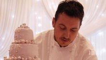 БРАВО! Братът на Владо Карамазов с торта за сватбата на принц Хари (СНИМКИ)