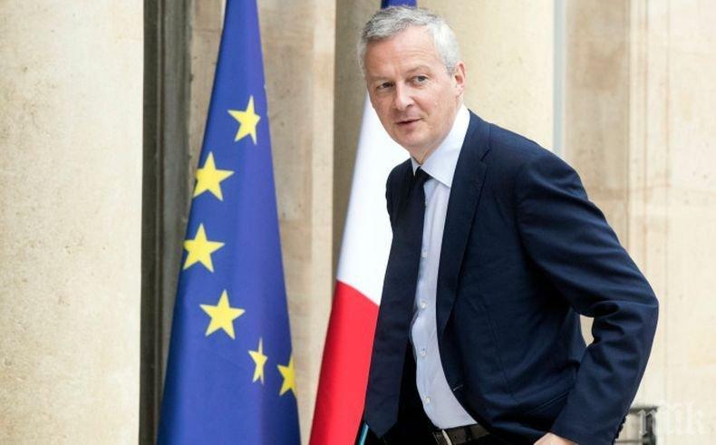 Финансовият министър на Франция опердели американските санкции като оръжие срещу Европа