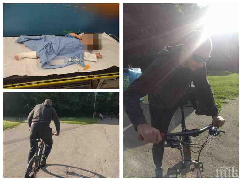 Пуснаха под гаранция колоездача, блъснал дете в парка