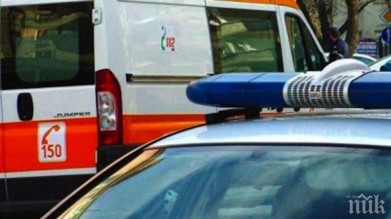 Тежка катастрофа между кола и камион затвори пътя Русе-Бяла