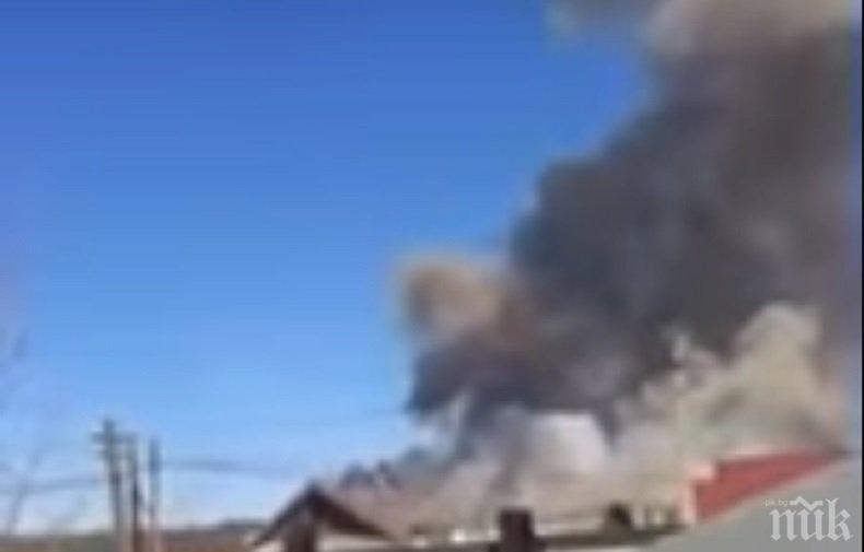 ОГНЕН АД В РУСИЯ! Евакуираха хиляди след пожар и взрив в склад за боеприпаси (ВИДЕО)