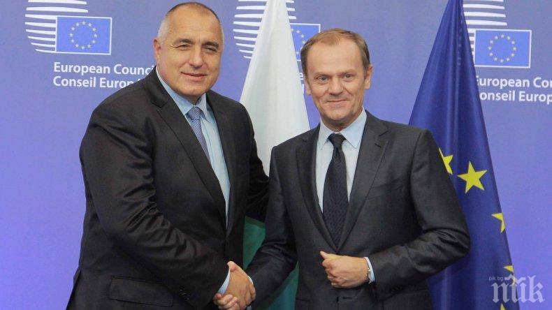 Доналд Туск и Бойко Борисов обсъждат напрежението в Близкия Изток