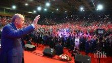 Ердоган събра 15 000 привърженици от цяла Европа  на предизборен митинг в Сараево
