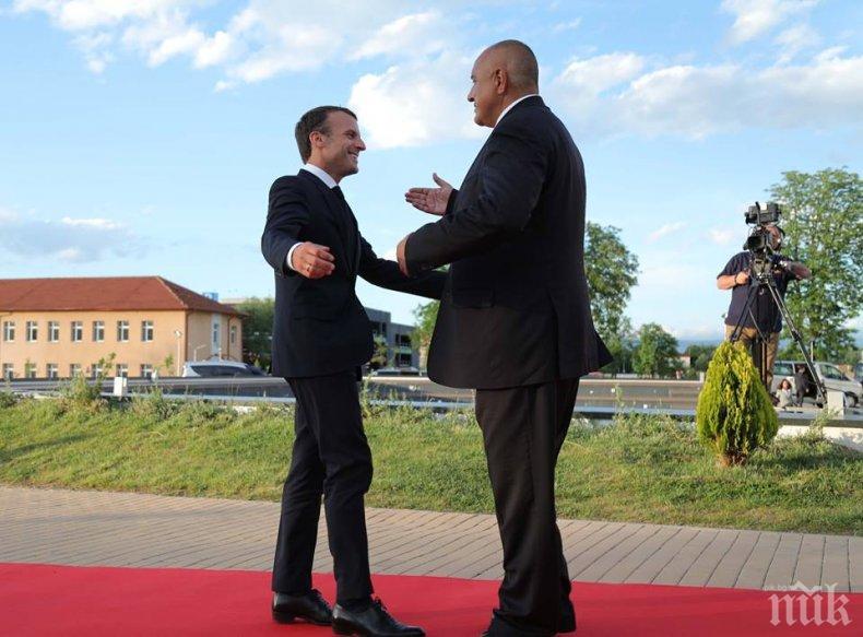 ПЪРВО В ПИК! Борисов изпрати Макрон - френският президент му благодари: Имаш приятел в Париж! (ВИДЕО)