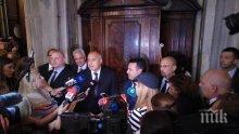 ИЗВЪНРЕДНО В ПИК TV! Борисов и Заев със съвместно изявление от Рим: Вместо да се караме, по-добре е заедно да си честваме великите братя!